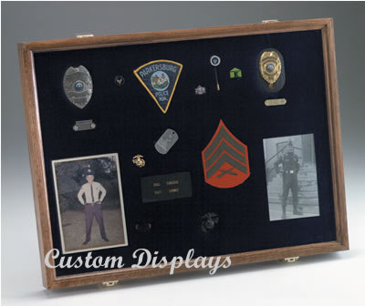 Police Badge and Patch Display Cases