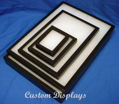 Black-Framed Display Cases