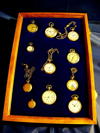 pocket watch display case